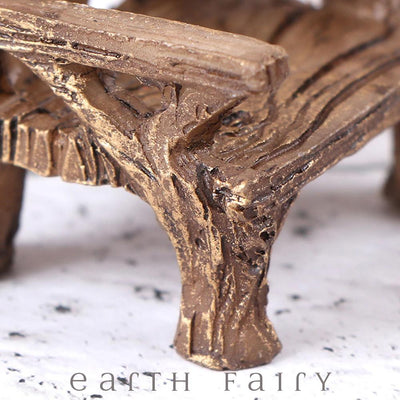 Rustic Vine Bench - Mini, from The Miniature Fairy Garden Furniture Collection by Earth Fairy