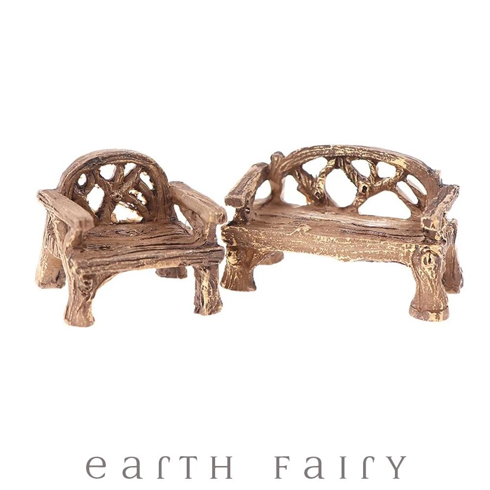 Rustic Vine Furniture Set - Mini, from The Miniature Fairy Garden Furniture Collection from Earth Fairy