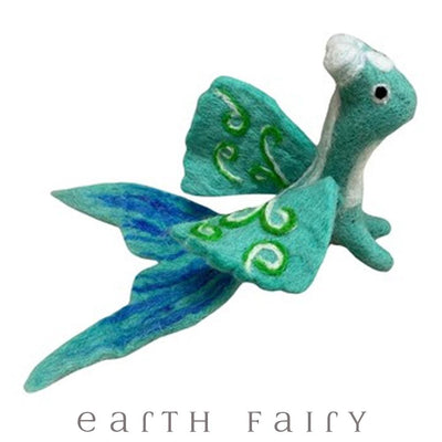 Sea Dragon, Large, from The Hand Felted Wool Toy Collection by Earth Fairy