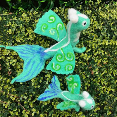 Sea Dragon - Small | Hand Felted Wool Toys - Australia | Earth Fairy
