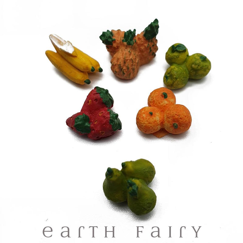 Set of 6 Miniature Fruits