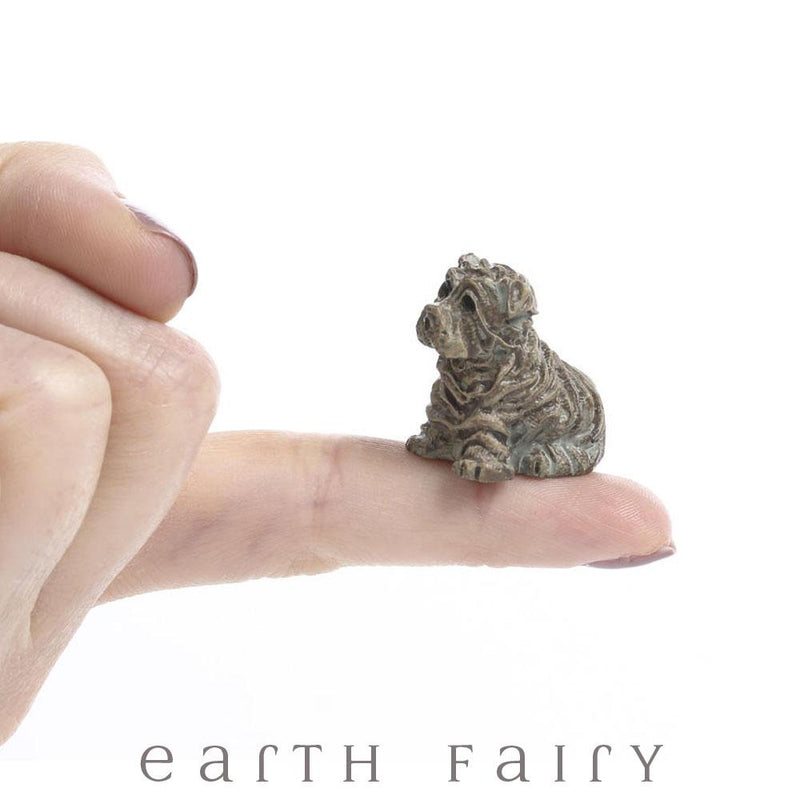 Miniature Shar Pei Dog from The Fairy Garden Miniature Animal Collection by Earth Fairy