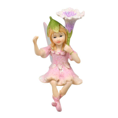 Fairy Gardens Shelf Sitting Garden Fairy Pale Pink Holding Upright Flower Earth Fairy