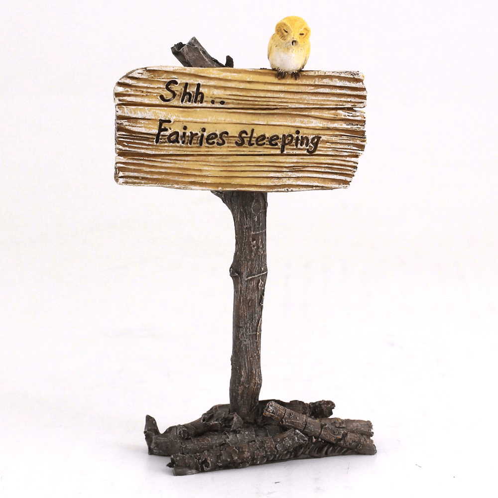 'Shh.. Fairies Sleeping' Sign  - Fairy Gardens - Earth Fairy