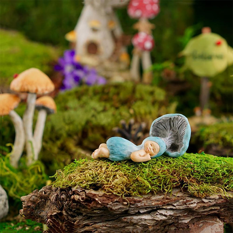 Shroom Baby Sleeping | Fairy Garden Figurines - Australia | Earth Fairy