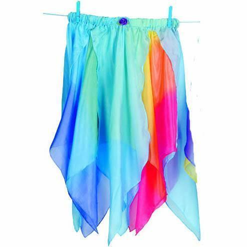 Fairy Finery Silk Fairy Skirt Rainbow Blue Earth Fairy