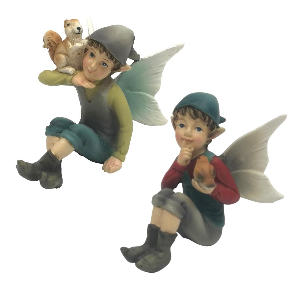 Sitting Garden Elves | Fairy Garden Elves - Australia | Earth Fairy