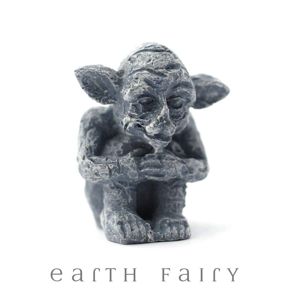 Sitting Goblin | Fairy Garden Accessories & Miniatures | Earth Fairy