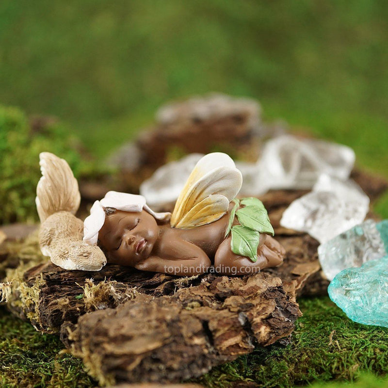 Fairies & Friends Sleeping Fairy Baby with Squirrel Earth Fairy