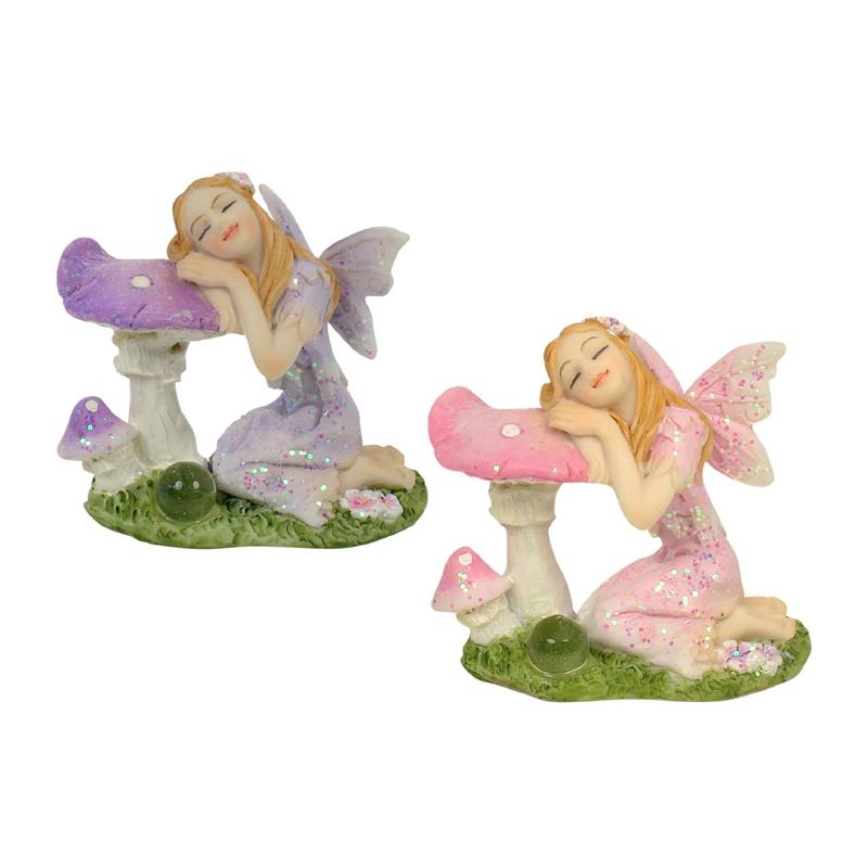 Sleeping Fairy with Mushroom | Fairy Garden Figurines - Australia | Earth Fairy