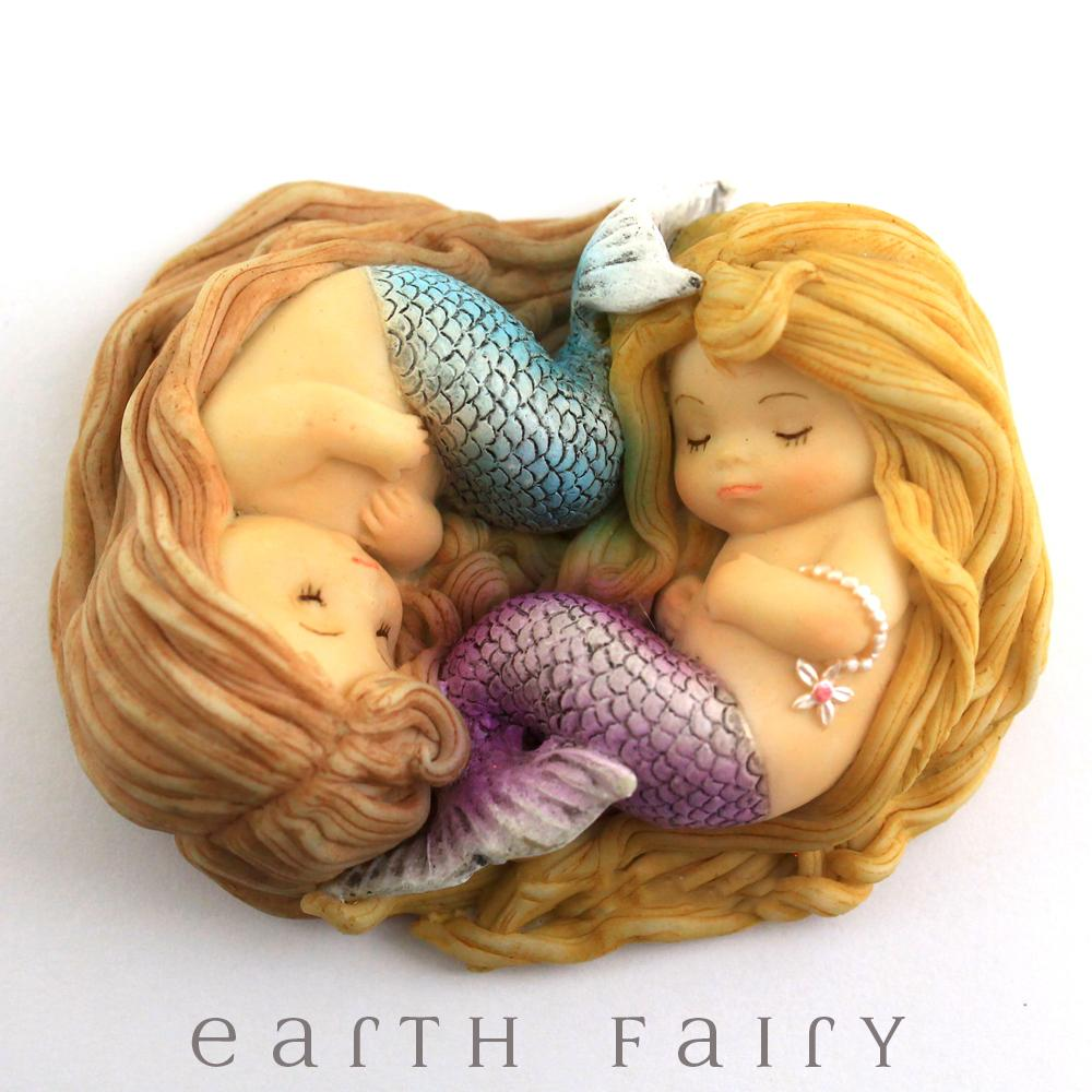 Sleeping Little Mermaid Friends, from The Miniature Mermaid Collection by Earth Fairy