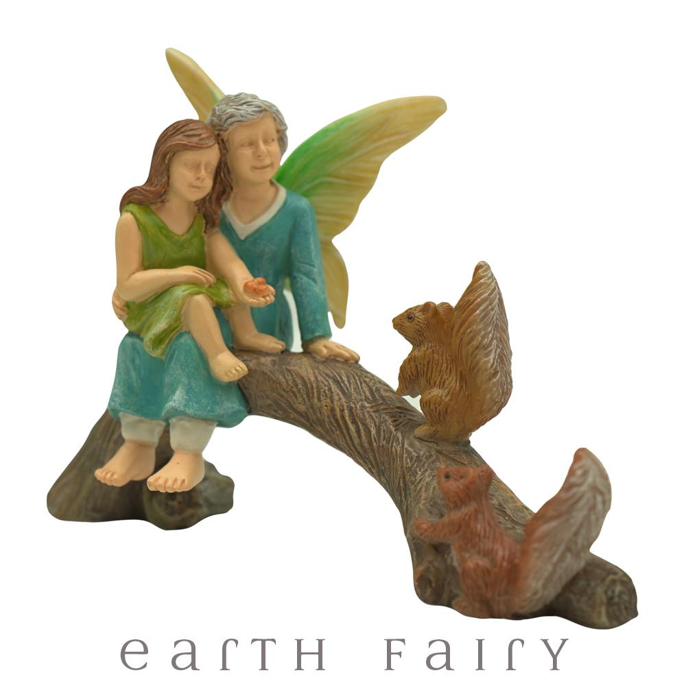 Snack Time with Grandma, from The Miniature Fairy Garden Figurine Collection by Earth Fairy