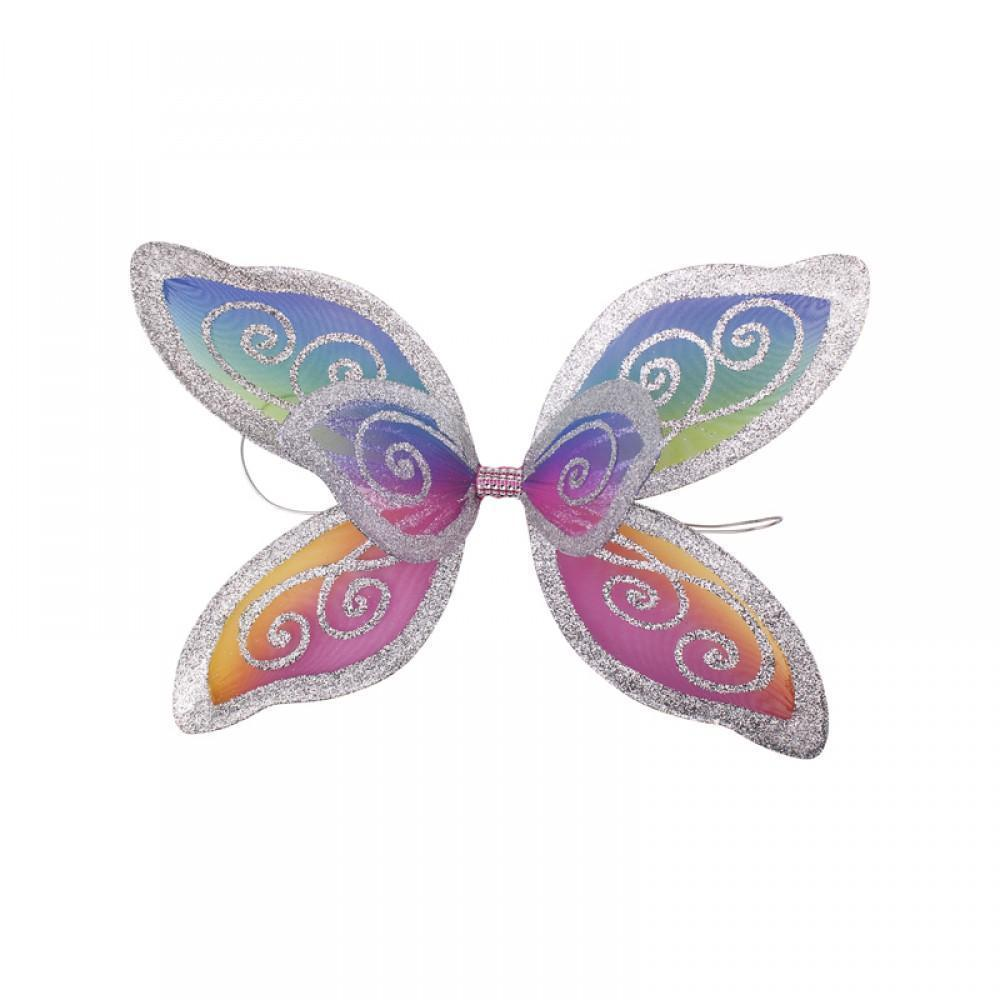 "Fairy Finery Sprite ""Triple"" Wings - Small Rainbow / Silver Earth Fairy"
