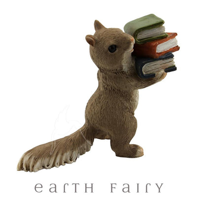 Squirrel with Books | Fairy Gardens & Miniatures - Australia | Earth Fairy