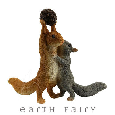 Squirrels With A Nut | Fairy Gardens & Miniatures - Australia | Earth Fairy