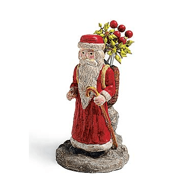 Room Accents St. Nicholas with Glass Vase Earth Fairy