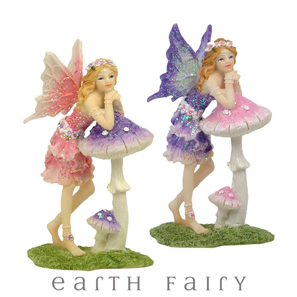 Standing Fairy with Mushroom from The Garden Fairy Collection by Earth Fairy
