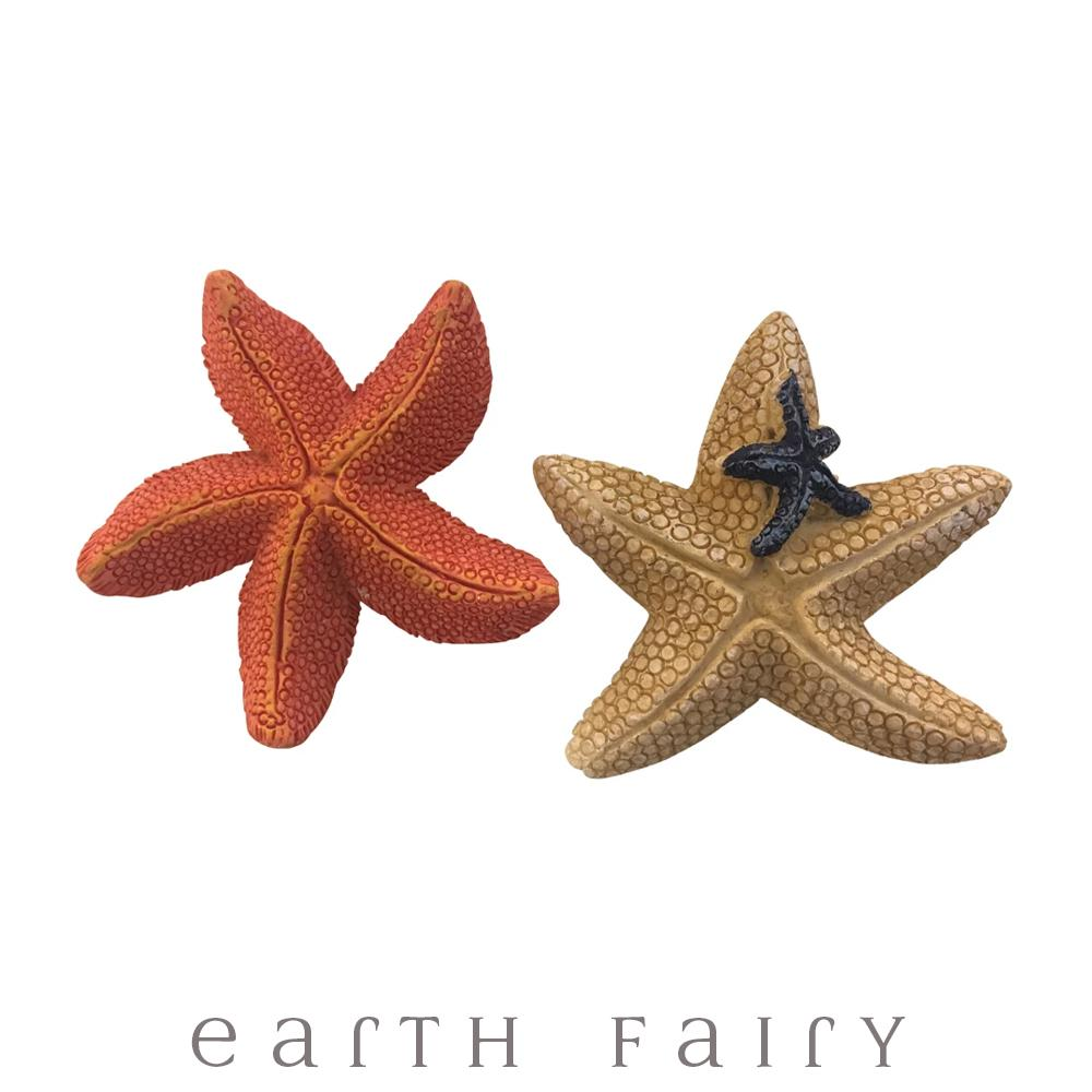 Starfish - Set of 2 | Fairy Garden Miniatures - Australia | Earth Fairy
