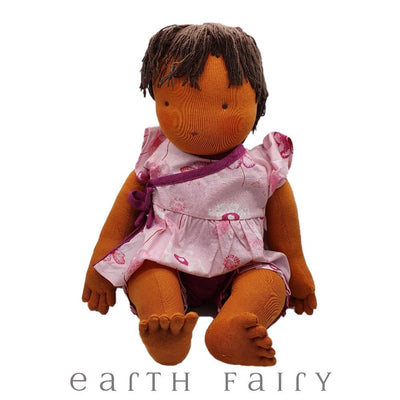 Steiner Waldorf Baby Girl Doll (45cm) | Fairy Play - Australia | Earth Fairy