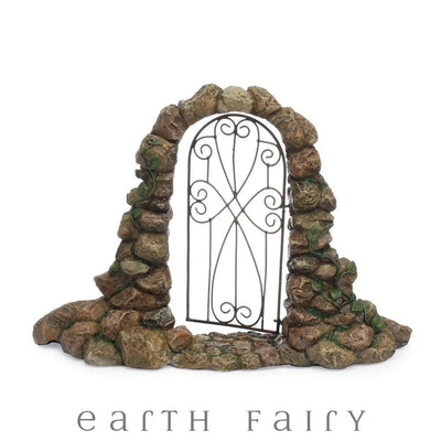 Stone Archway Gate from the Woodland Knoll Fairy Garden Collection by Earth Fairy