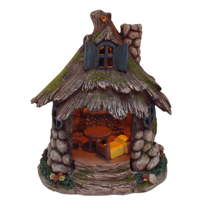 Fairy Houses Stone Pixie House - Solar Earth Fairy