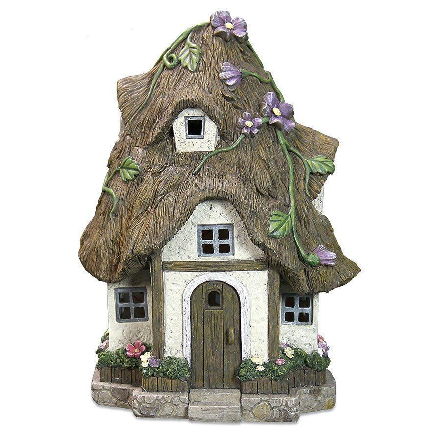 Fairy Houses Straw Fairy House - Solar Earth Fairy