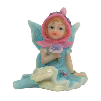 Fairy Gardens Sugar Plum Fairies - Sitting Blue Earth Fairy