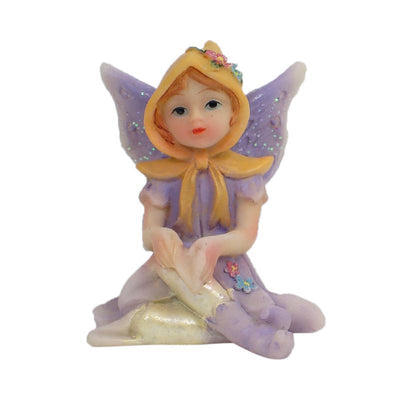 Fairy Gardens Sugar Plum Fairies - Sitting Lavender Earth Fairy