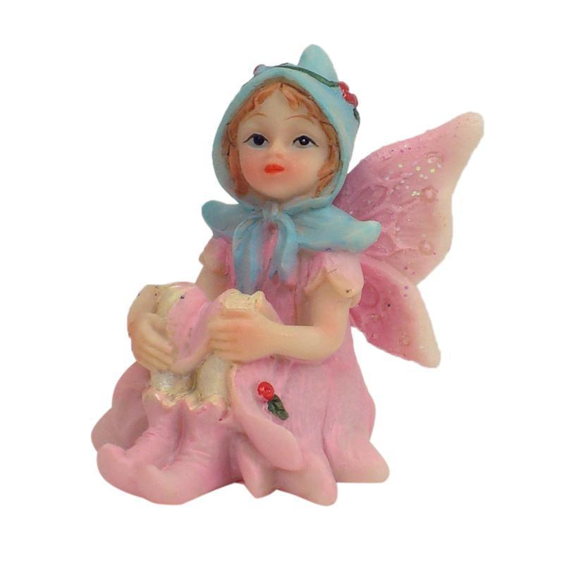 Fairy Gardens Sugar Plum Fairies - Sitting Pale Pink | Earth Fairy