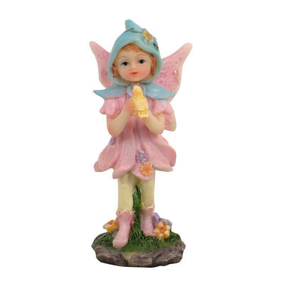 Fairies & Friends Sugar Plum Fairies - Standing Pale Pink Earth Fairy