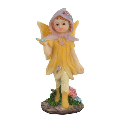 Fairies & Friends Sugar Plum Fairies - Standing Yellow Earth Fairy