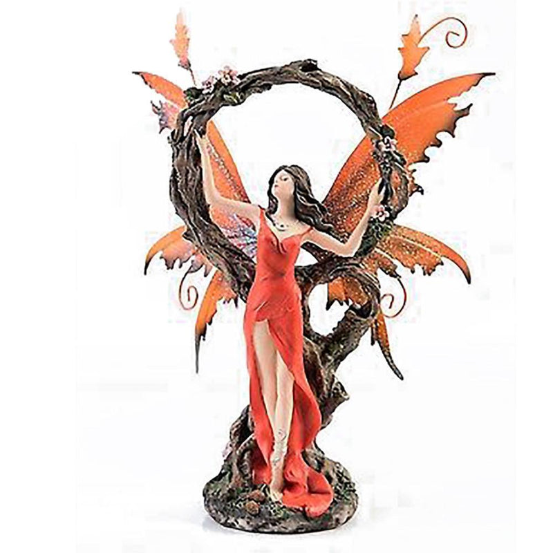 Tales of Avalon - Orange Fairy with Tree Circle | Fairy Figurines - Australia | Earth Fairy