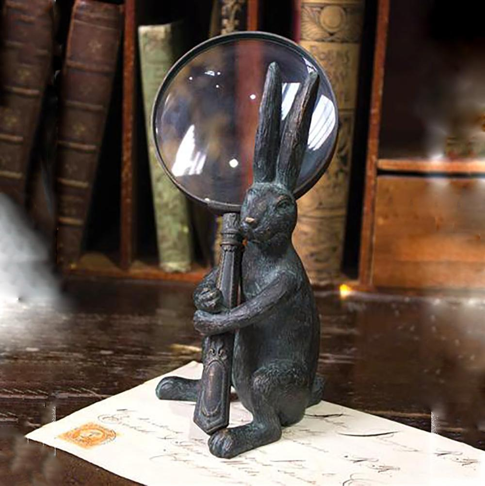 Room Accents The Handy Hare Magnifying Glass & Holder Earth Fairy