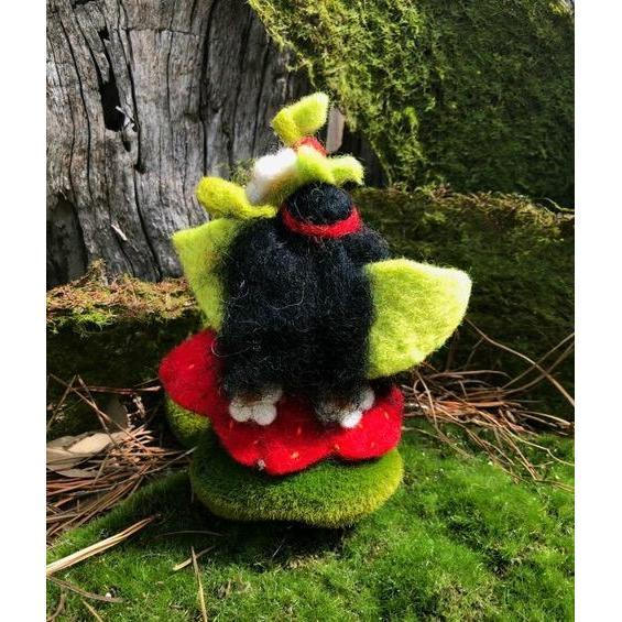 The Strawberry Faerymother | Hand Felted Wool Toys - Australia | Earth Fairy