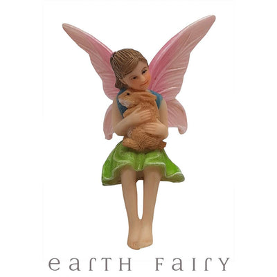 Fairy Ava with Bunny from The Willow Fairy Garden Collection by Earth Fairy