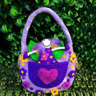 The Wonder Faery Magical Bag - Purple - Large  | Fairy Play - Australia | Earth Fairy