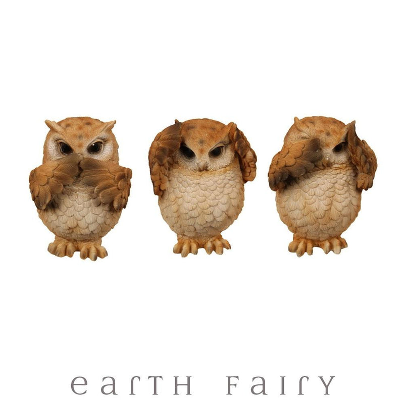Three Wise Owls | Australian Fantasy Gifts | Earth Fairy