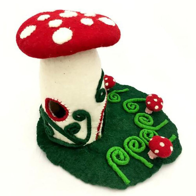 Toadstool House | Hand Felted Wool Toys - Australia | Earth Fairy