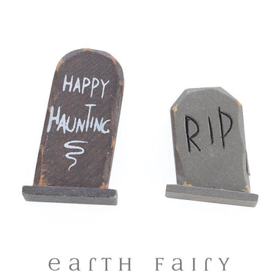 Tomstones - Set of 2 from The Halloween Miniature Collection by Earth Fairy