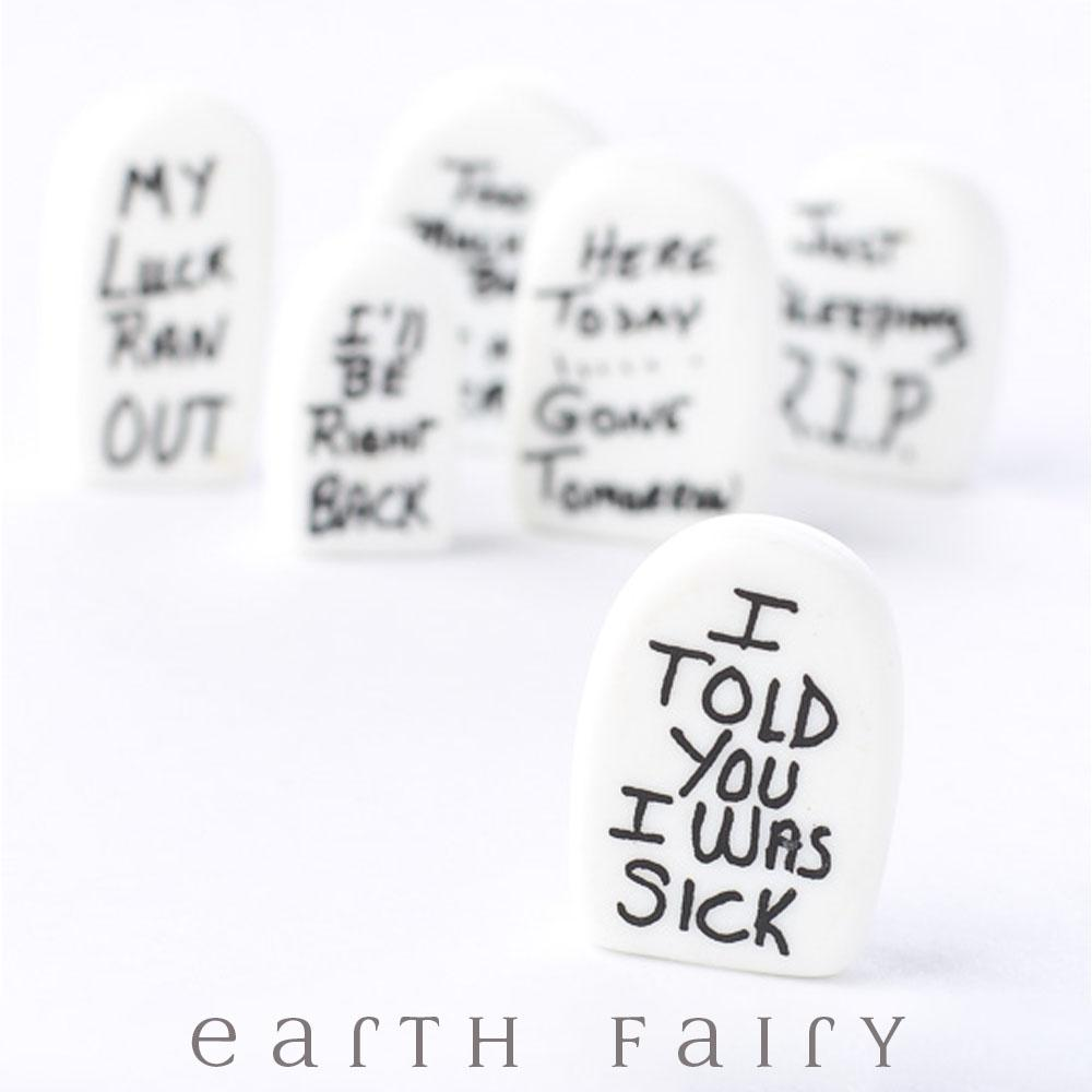 Tombstones - Set of 6 from the Halloween Miniature Collection by Earth Fairy