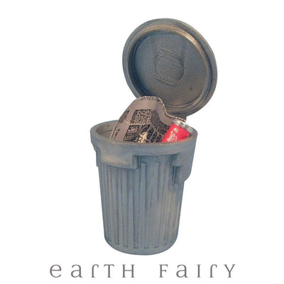 Trash Can with Trash | Miniatures & Fairy Gardens | Earth Fairy