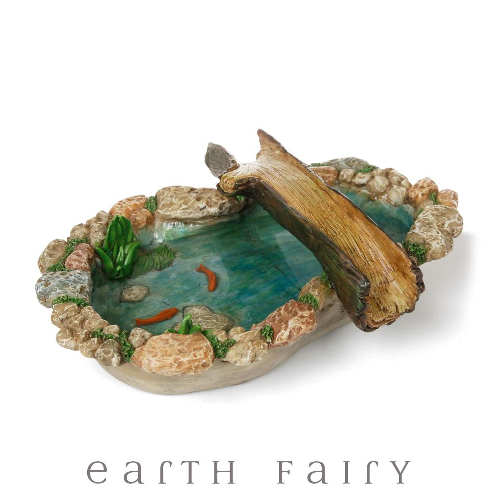 Tree Bridge Pond With Koi | Fairy Garden Landscaping | Earth Fairy