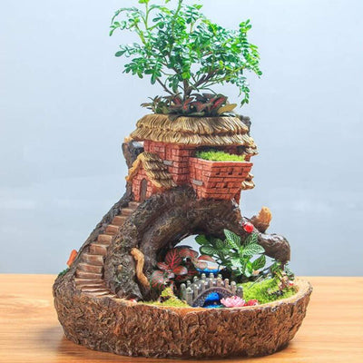 Tree House Planter | Fairy Garden Landscaping - Australia | Earth Fairy
