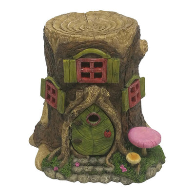 Tree Stump Fairy House with Opening Door | Fairy Garden Houses - Australia | Earth Fairy