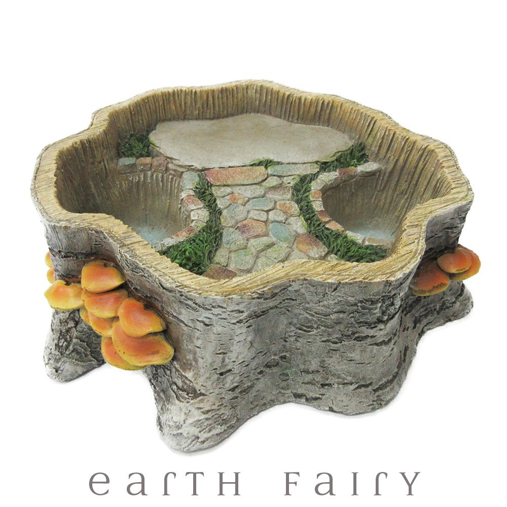 Tree Stump Planter from The Fairy Garden Landscaping Collection by Earth Fairy