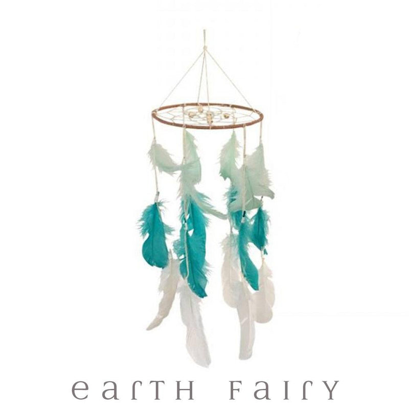 Tri-Colour Mobile Dream Catcher | Dream Catchers - Australia| Earth Fairy