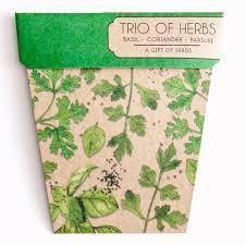 Books & Stationery Trio of Herbs Gift of Seeds Earth Fairy