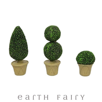 Trio of Topiairies from The Fairy Garden Flowers & Plants Collection by Earth Fairy