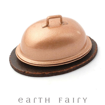 Turkey on a Platter with Canopy | Fairy Garden Miniatures | Earth Fairy