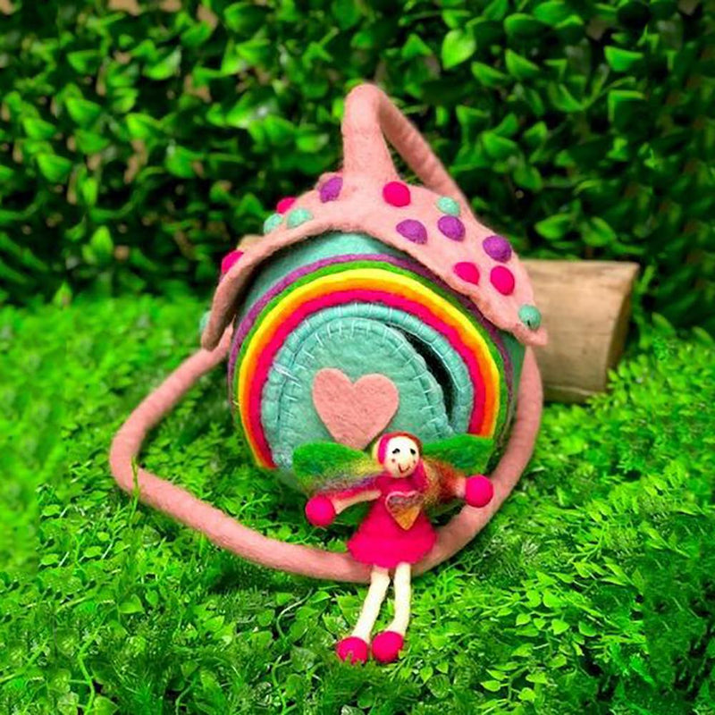 Unicorn Faery Pod | Hand Felted Wool Toys - Australia | Earth Fairy